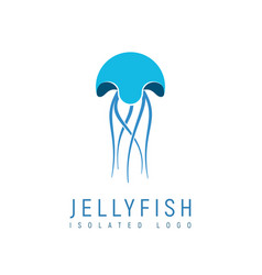 isolated abstract jellyfish on white background vector image vector image