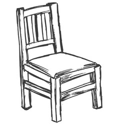 vintage old chair vector image vector image