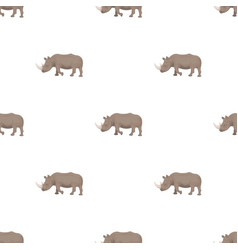 a large indian rhinoceros a wild animal a vector image