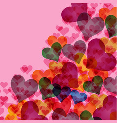 Abstract background with pink hearts vector
