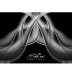 Abstract grey smooth smoke wavy pattern vector