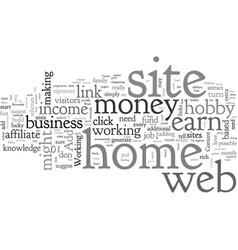 Affiliate web sites make money vector