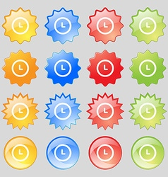 alarm icon sign Big set of 16 colorful modern vector image
