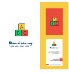alphabets blocks creative logo and business card vector image
