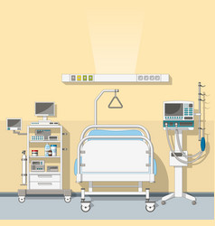 an intensive care unit vector image