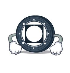 Angry byteball bytes coin mascot cartoon vector