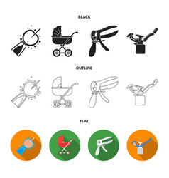 artificial insemination baby carriage instrument vector image