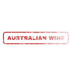Australian wine rubber stamp vector