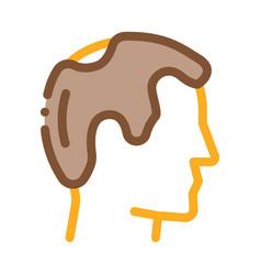 Balding man profile icon outline vector
