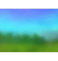 beautiful stylized landscape vector image