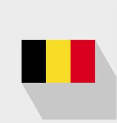 Belgium flag long shadow design vector