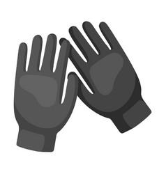Black gloves for men on a vector