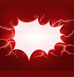 Blank splash on red thunders background vector