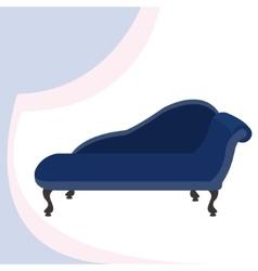 Blue vintage sofa vector
