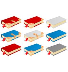 books vintage design vector image