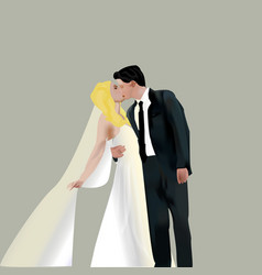 bridegroom vector image