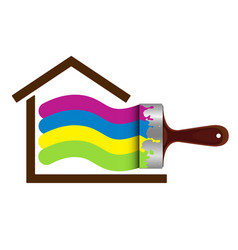Brush for painting house vector