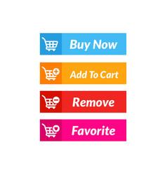 buy now button design online shop icon vector image