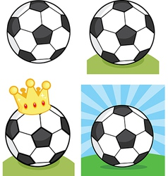 Cartoon soccerball vector