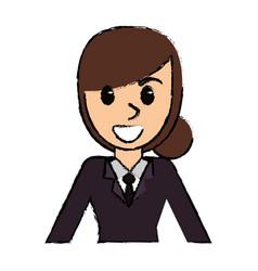 cartoon woman avatar portrait female vector image