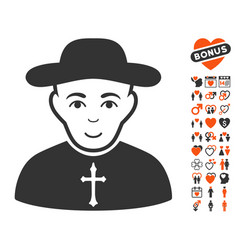 christian priest icon with lovely bonus vector image