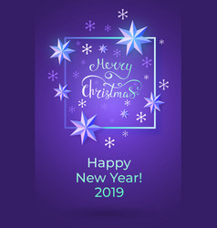 Christmas and new year 2019 greeting card vector