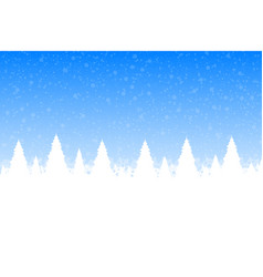 Christmas snow forest with christmas trees and vector