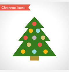 christmas tree with multicolored balls vector image