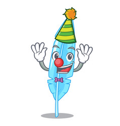 Clown feather mascot cartoon style vector