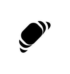 croissant bun icon vector image
