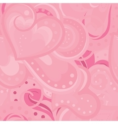 Cute valentines seamless pattern with vector image