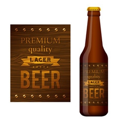 design of beer label vector image