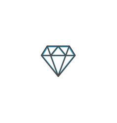 diamond icon design essential icon vector image