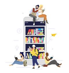 digital books flat style design vector image