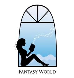 Dive into the fantasy world of books vector