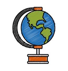 earth globe isolated vector image