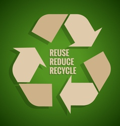 Ecology concept Reuse Reduce Recycle concept on vector