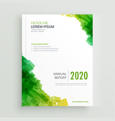 Elegant green abstract brochure design vector