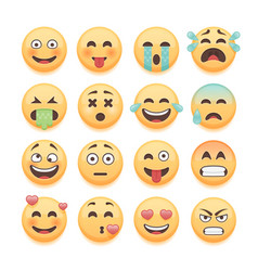 Emoticons set emoji set smiley collection vector