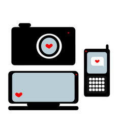 Equipment on valentine s day vector