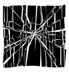 Facture crack element shatter broken surface vector