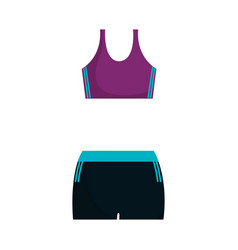 female sport clothes icon vector image
