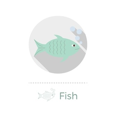 Fish with bubbles vector image