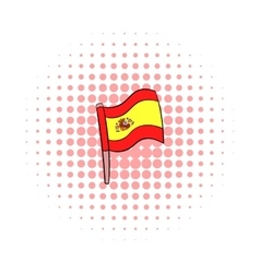 Flag of Spain icon comics style vector image