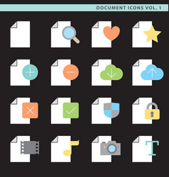 Flat document icons vol 1 vector
