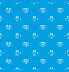 gmo free health pattern seamless blue vector image