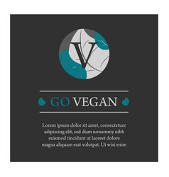 Go vegan banner vector