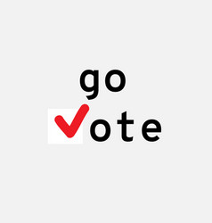 go vote symbols template check marks vector image
