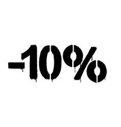 Graffiti discount made stencil -10 percent vector