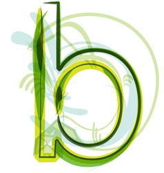 Green letter B vector image vector image
